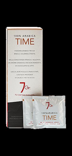 7Gr. Time 100% Arabica E.S.E. Pads 24 Stück