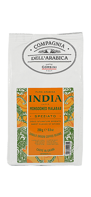 Caffe Corsini India Monsooned Malabar Bohnen 250g