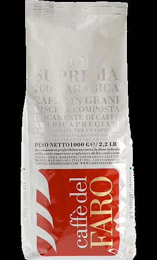 Caffe del Faro Kaffee Suprema 100% Arabica Bohnen 1kg