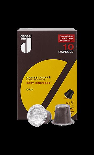 Danesi Caffe ORO Nespresso® kompatibel 10 Kapseln