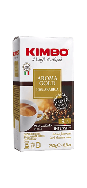 Kimbo Aroma Gold 100% Arabica 250g gemahlen