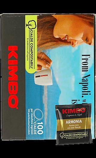 Kimbo Kaffee Espresso Armonia Pads 100 Stück