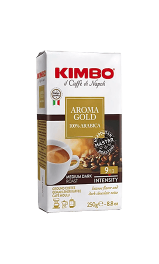 Kimbo Kaffee Aroma Gold 100% Arabica gemahlen 250g
