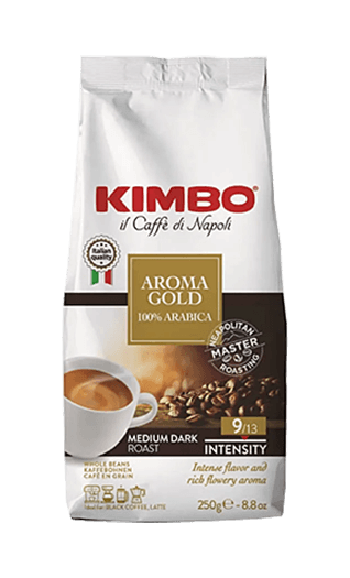Kimbo Aroma Gold 100% Arabica Bohnen 250g