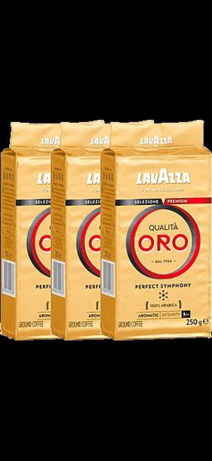 Lavazza Qualita Oro 3 x 250g gemahlen