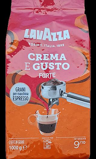Lavazza Crema e Gusto Forte 1kg Bohnen