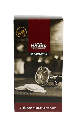 Mauro Kaffee Espresso Centopercento Pads 18 Stück