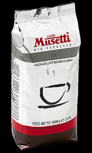 Musetti Kaffee Espresso Decaffeinato 1000g Bohnen
