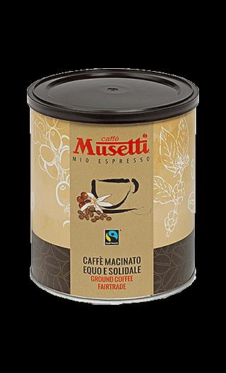 Musetti Kaffee Espresso Fair Trade 250g Bohnen Dose