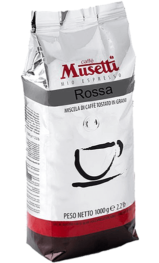 Musetti Kaffee Espresso Miscela Rossa 1000g Bohnen