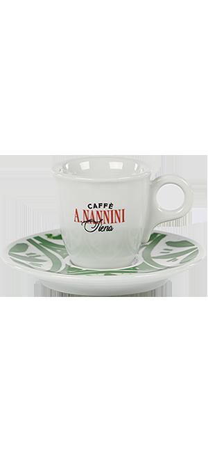 Nannini Espressotasse mit grüner Untertasse