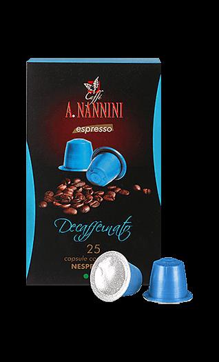 Nannini Decaffeinato Nespresso® kompatibel 25 Kapseln