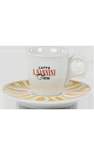 Nannini Espressotasse mit gelber Untertasse