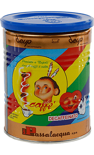 Passalacqua Kaffee Espresso Deup Decaffeinato 250g gemahlen Dose