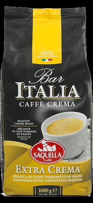 Saquella Bar Italia Extra Crema 1kg Bohnen