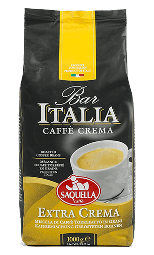 Saquella Bar Italia Extra Crema Bohnen 1kg