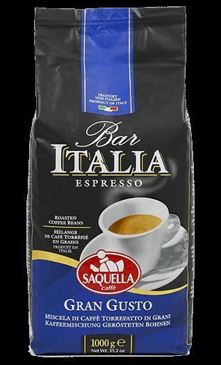 Saquella Bar Italia Kaffee Gran Gusto 1000g Bohnen