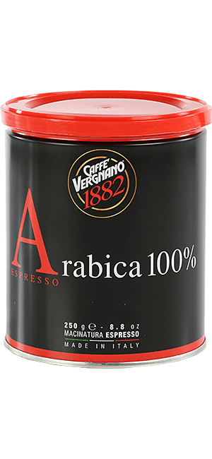 Vergnano Arabica 100% 250g gemahlen Dose