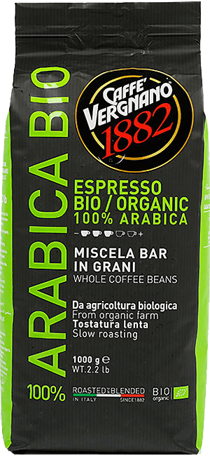 Vergnano Bio Organic 1kg Bohnen