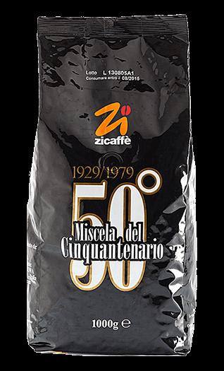 Zicaffe Kaffee Cinquantenario 50° Bohnen 1kg